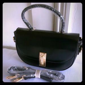 Melie Bianco Black Top Handle Pocketbook Handbag